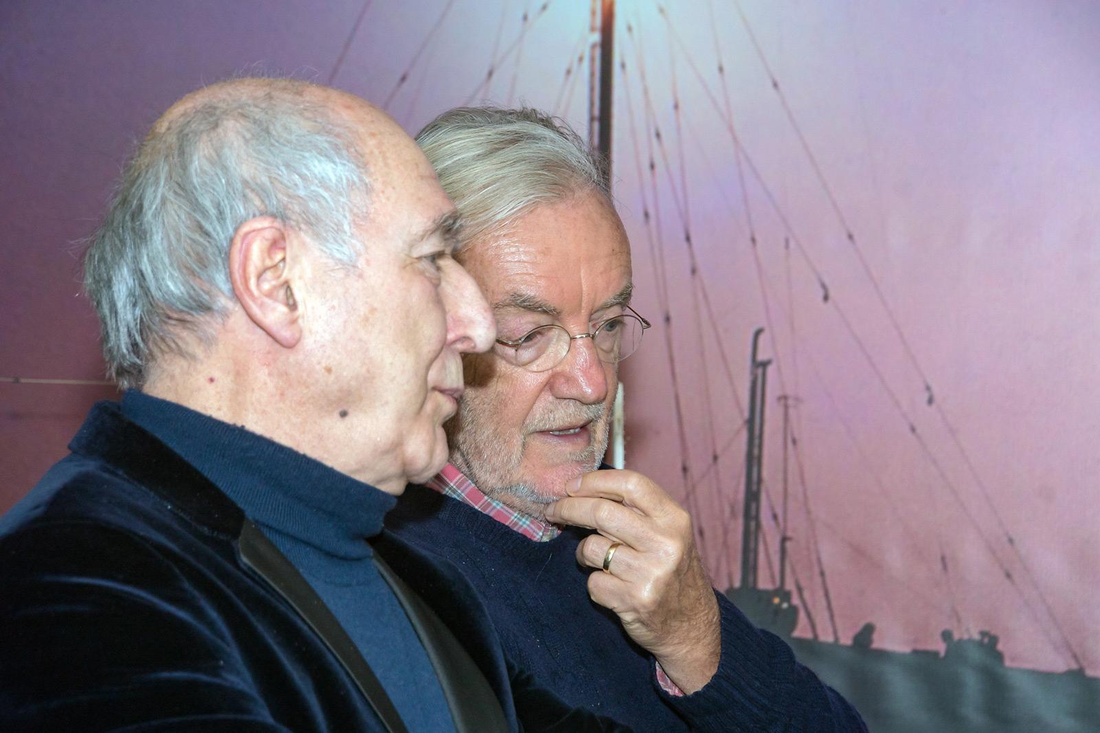 Peter Koelewijn en Lex Harding in gesprek met elkaar